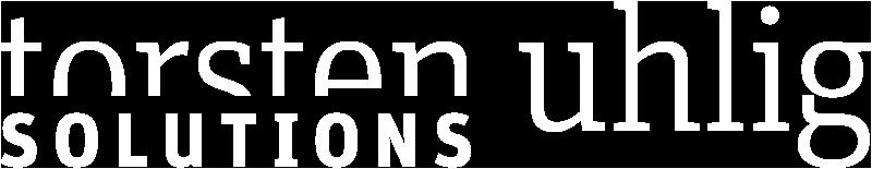 Torsten Uhlig · TU Solutions · Druckveredelung · Druck, Lack und Beschichtung · Logo